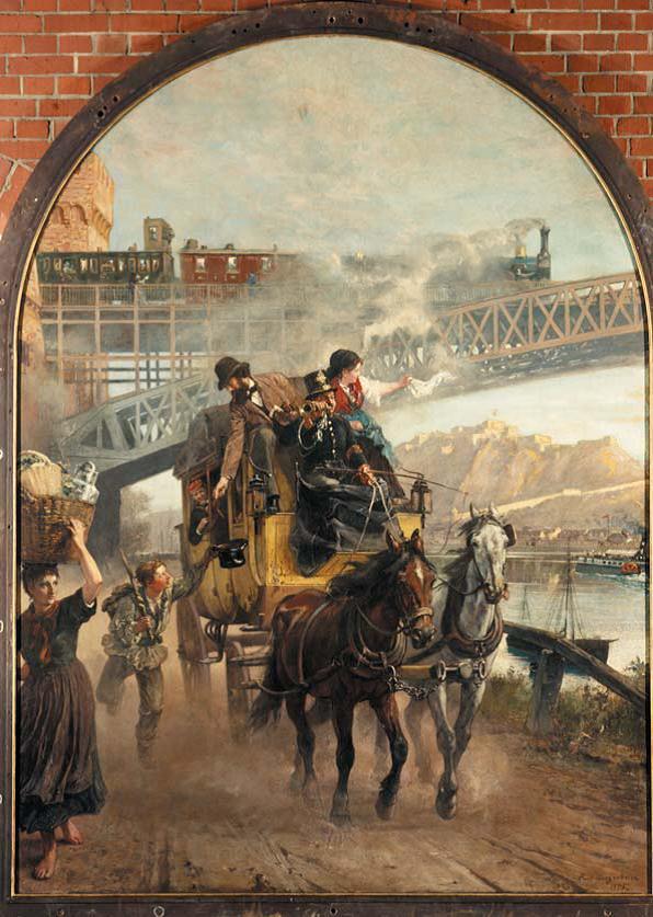 Paul Meyerheim, Die Eisenbahnbrücke über den Rhein bei Ehrenbreitstein
