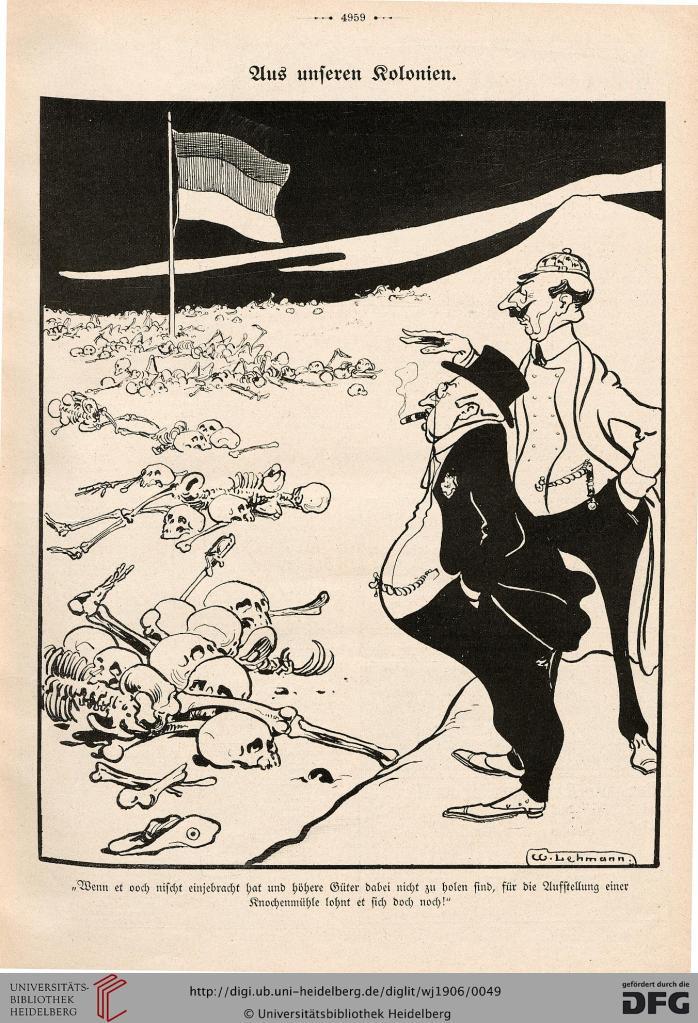 Der Wahre Jakob, 20.2.1906, Karikatur: Aus unseren Kolonien.