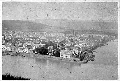Deutsches Eck 1875. Stadtarchiv Koblenz