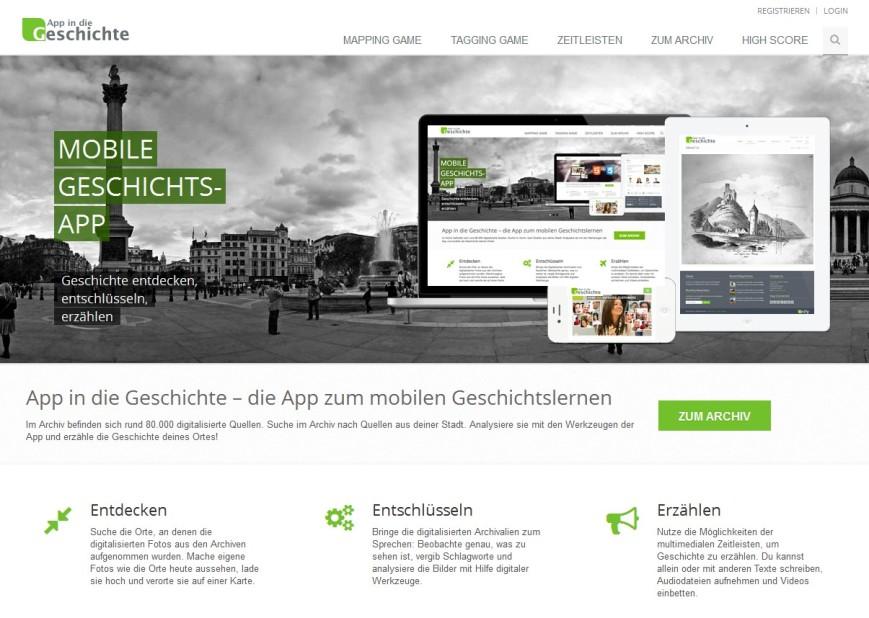 Mobiles Geschichtslernen: App in die Geschichte online