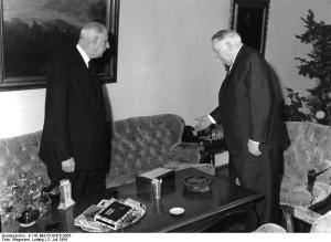 Bundeskanzler Erhard empfängt den französischen Präsidenten de Gaulle in Bonn, 3.7.1964