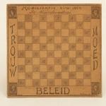 Niederländisches Dame Brettspiel zur Mobilisierung im August 1914. Bild: Europeana 1914-1918. CC-BY-SA 3.0.