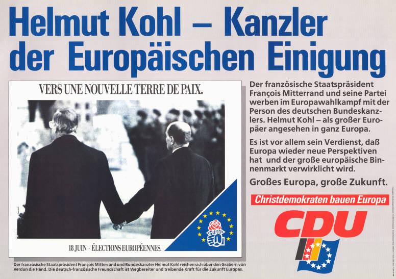 Europawahlplakat der CDU 1989. Quelle: KAS/ACDP 10-030 : 226. CC-BY-SA 3.0 DE.