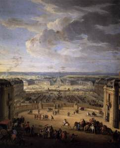 jean-baptiste_martin_-_the_stables_viewed_from_the_chateau_at_versailles_-_wga14144